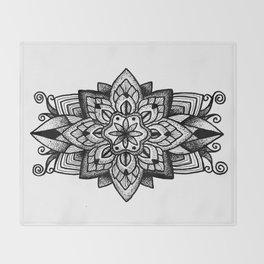 Mandala Curley Throw Blanket