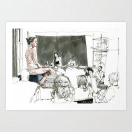 Figure Drawing, 90 Art Print