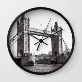 London Bridge Black & White Wall Clock