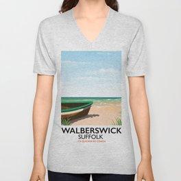 Walberswick Suffolk travel poster Unisex V-Neck
