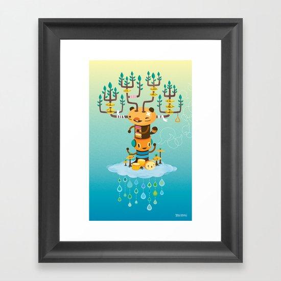 Cloud Music Framed Art Print