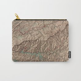 Vintage Great Smoky Mountains National Park Map (1963) Carry-All Pouch