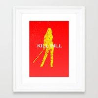 kill bill Framed Art Prints featuring Kill Bill by Ehab Hassouna