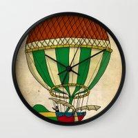balloon Wall Clocks featuring Balloon by Janko Illustration