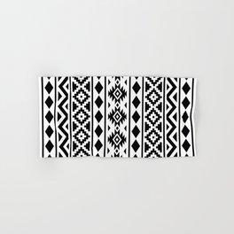 Aztec Essence Ptn III Black on White Hand & Bath Towel
