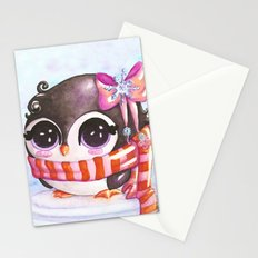 Snowy penguin  Stationery Cards