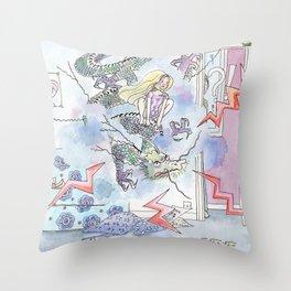 Girl power Throw Pillow