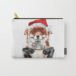 Morning Fox Christmas Carry-All Pouch