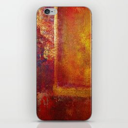 Abstract Art Color Fields Orange Red Yellow Gold by Philip Bowman iPhone Skin