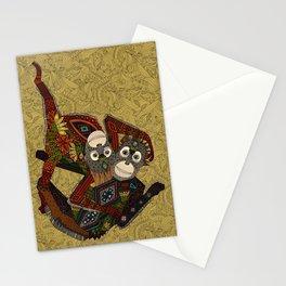 orangutans gold Stationery Cards