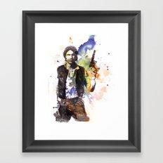 Han Solo From Star Wars  Framed Art Print