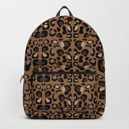Leopard Suede Backpack
