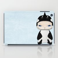 killer whale iPad Cases featuring A Boy - Killer Whale by Christophe Chiozzi