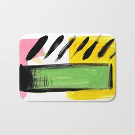 Bright geometric abstract Bath Mat