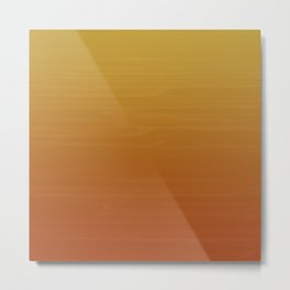 Gold to Sienna Orange Painted appearance gradient ombre Metal Print