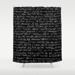Literary Giants Pattern Shower Curtain