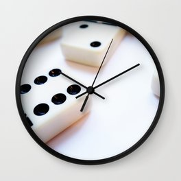 Dominoes Pattern #6 Wall Clock