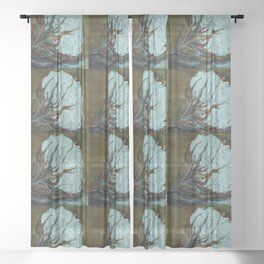 Four Square Cotton Sheer Curtain