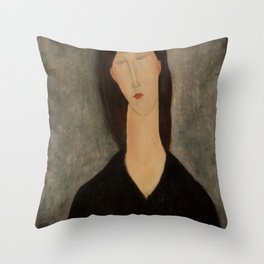 """Amedeo Modigliani """"Bust of a Woman"""" Throw Pillow"""