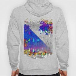 Abstract Colorful Rain Drops Design Hoody