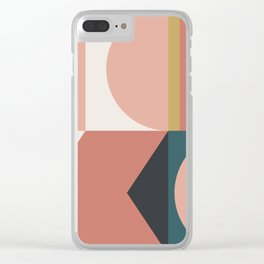 Maximalist Geometric 02 Clear iPhone Case