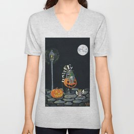 The Trick Or Treaters by Mary Bottom (Mr Harry Badger Series) Unisex V-Neck