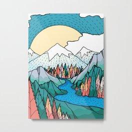 The white river peaks  Metal Print