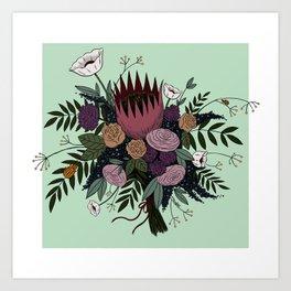 Beetles and Flowers Art Print