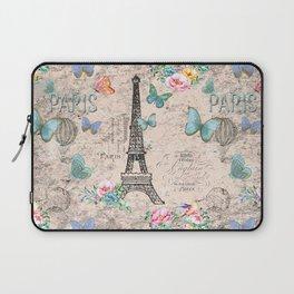 Paris - my love - France Nostalgy - pink French Vintage Laptop Sleeve