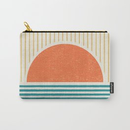 Sun Beach Stripes - Mid Century Modern Abstract Carry-All Pouch