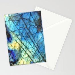 Royal Labradorite Crystal Agate Gemstone Print Stationery Cards