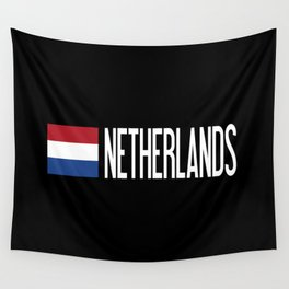 Netherlands: Dutch Flag & Netherlands Wall Tapestry