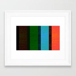 Colors On Grain Framed Art Print
