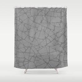 BROKEN GLASS WHITE Shower Curtain