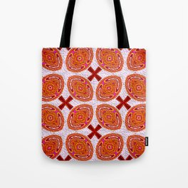 Tribal Shields Abstract Pattern Tote Bag