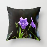 alone Throw Pillows featuring Alone by BeachStudio
