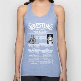 #3-B Memphis Wrestling Window Card Unisex Tank Top
