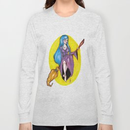 The blue haired witch Long Sleeve T-shirt
