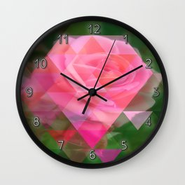 Pink Roses in Anzures 2 Art Triangles 1 Wall Clock