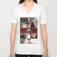 scandal V-neck T-shirts featuring A Scandal in Belgravia by Alessia Pelonzi