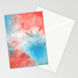 Red & Blue Galaxy Stationery Cards