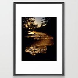 morning falls Framed Art Print