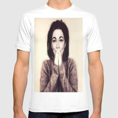Mommie Bjork LARGE Mens Fitted Tee White