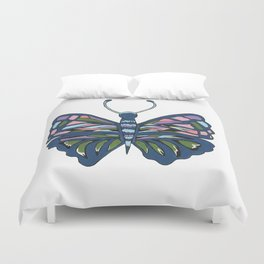 Butterfly In Blue Duvet Cover