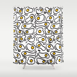 EGGS pattern Shower Curtain