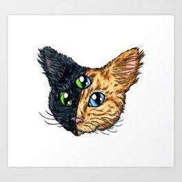 Chimera Cat Art Print