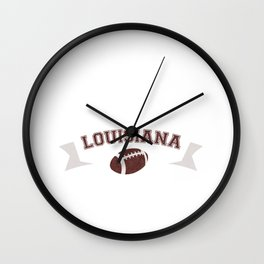 Just a Baller from Louisiana Football Player Wall Clock