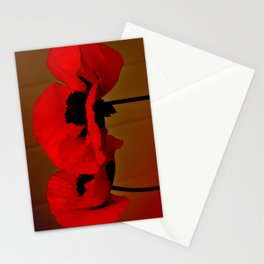 POPPIES - DARK Stationery Cards