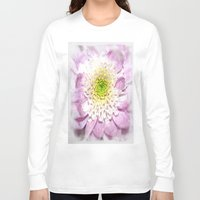 water colour Long Sleeve T-shirts featuring Flower Head water colour by Brian Raggatt