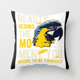 Exotic Parrot Lover Gift Idea Design Throw Pillow